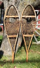 Pair Of Vintage TUBBS Michigan Model Snow Shoes Log Cabin Home Decor Display