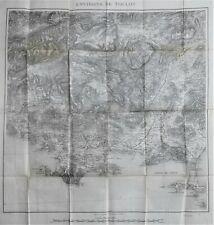 Var Carte de TOULON et environs La Seyne Giens Sanary Bandol 1898 service Armées