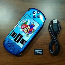 Sony PSP 3000 Vibrant Blue 32GB   Emulators Installed CFW + Charger