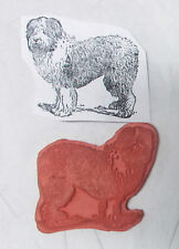 Fluffy dog rubber stamp unmounted die only Domestic animals Paper craft stamping
