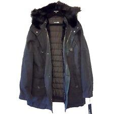 YVES SALOMON Mens Black Rabbit Racoon Fur Down Parka Jacket Coat 46 MSRP $3,300