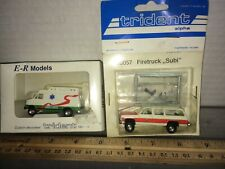 2 Pieces  1/87 HO  trident Emergency  Vehicles Discontinued? Free shipping