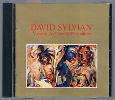 DAVID SYLVIAN ALCHEMY AN INDEX OF POSSIBILITIES CD NO BARCODE MADE IN JAPAN