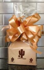 Southwest Brown Cacuts Candy Gift Box-Basket Wrapped With Red Bow & Card