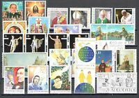 2018 Vatican, Year Complete 28 Val +4 Bf +1 Booklet Santo Natale +13 1/12ft