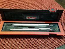 Rotring 600 Silver Ballpoint Pen & Pencil Boxed