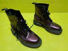 Dr. Martens Stiefelette Stiefel Boots Beere Glanz Metallic Gr.37 Docs T37 Nr17