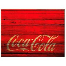COCA-COLA Red Glass kitchen cutting chopping board - Retro Coke Wood Style Perth