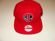 New Era Cap Hat Deadpool Worldmark Block Back Snapback 9Fifty One Size Logo Red