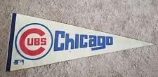 Vintage 1960s Chicago Cubs Full Size Pennant MLB Baseball