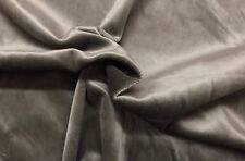 "BALLARD DESIGNS SIGNATURE VELVET SABLE GRAY FURNITURE FABRIC BY THE YARD 56""W"
