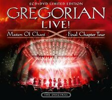 GREGORIAN - LIVE! MASTERS OF CHANT-FINAL CHAPTER TOUR LIMITED 2CD+DVD NEW+