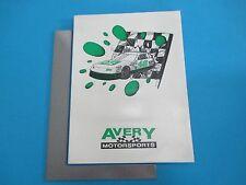 1993 Avery Motorsports Williston VT Folder Robbie Crouch Inserts Crew Bios L249