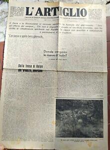 1943 Zeitung 'L'Artiglio' Bogen D' Orden Der Bündel Von Combat Von Lucca