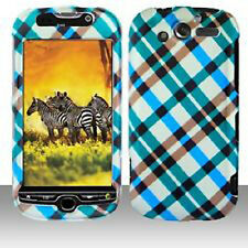 Blue Plaid Case Snap on Cover T-Mobile myTouch 4G