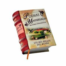 new Poemas Universales Los mas bellos del Mundo Miniature Book Spanish Hardcover