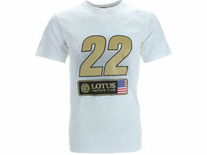 LOTUS INDY CAR  SPONSOR TEE- IZOD RACING SERIES- #22 ORIOL SERVIA-WHITE - M-XXL