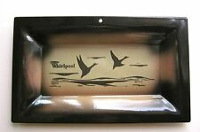 Handsome Flying Geese Whirlpool Enamel Advertising Plaque in Super 1960's Colors
