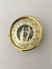 Barometer Insert  8 cm Diameter Gold Coloured Dial Bezel