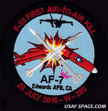 USAF F-35 - AF-7 FIRST AIR TO AIR KILL -23 JULY 2016- Edwards AFB DOD TEST PATCH