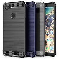 Google Pixel 3 / 3 XL Carbon Fibre TPU Silicone Gel Case Protection Cover UK