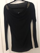 Magaschoni TUNIC TOP M Embellished NWT Modal Wool 286.00