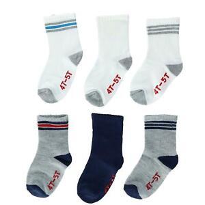 New Hanes Infant Toddler's Non Skid Crew Socks (6 Pair Pack)