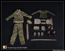 1/6 Fire Girl Toys FG043 Female Navy Seals CP Camouflage Commando Uniform Set