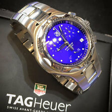 Tag Heuer Kirium with blue dial in stainless steel. Quartz date