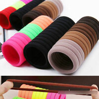 50Pcs Women Girls Hair Band Ties Rope Ring Elastic Hairband Ponytail Holder Bu