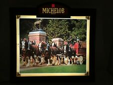 Michelob Beer Lighted Sign Anheuser-Busch Clydesdales Htf Vintage Rare 1981