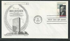 # 1275 ADLAI STEVENSON, GOVERNOR & AMBASSADOR 1965 Aristocrats First Day Cover