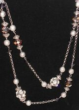 """$36 CHARTER CLUB LONG STRAND 40"""" PURPLE GLASS BEAD CRYSTAL NECKLACE NEW W TAGS"""