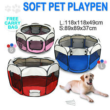 More details for pet soft playpen dog cat rabbit guinea pig puppy play crate cage tent portable
