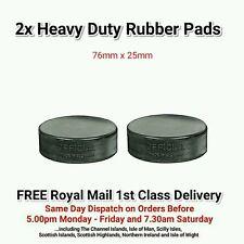 2x Heavy Duty Almohadillas de elevación de goma vulcanizada Negro - 76mm X 25mm