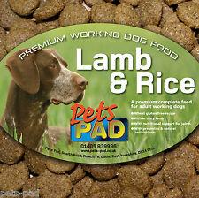 Premium Complete Lamb and Rice Dog Food, Wheat Gluten Free, inc Probiotics, 15kg