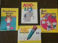 Abeka Preschool- phonics and numbers, reading, writing tablet, and art- Unbound.