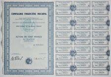Action - Compagnie Financière MOCUPIA, action de 100 Frs N° 008250