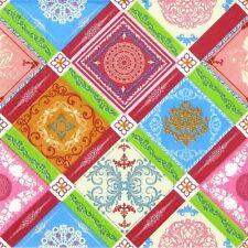 4x Tovaglioli di carta per Decoupage Decopatch Craft Piastrelle Colorate