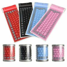 Flexible Foldable Silicone Roll Washable Waterproof Wireless Bluetooth Keyboard