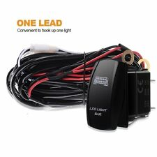 Off Road ATV Jeep 300W 12V LED Light Bar Wiring Harness Fuse Relay Switch Kit UK