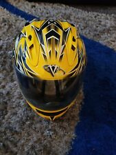 Vega Altura Motorcycle Helmet Size XS   Snell DOT Approved Yellow Black