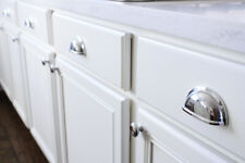 """Cabinet Hardware Polished Chrome Cup Pull 3"""" Centers"""