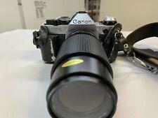 CANON AE-1 PROGRAM 35MM FILM CAMERA CASE GEMINI FLASH 50MM 80-200MM LENS OUTFIT