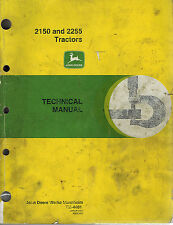 JOHN DEERE 2150 2255 TRACTOR TECHNICAL  MANUAL TM4401 jd