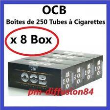 2000  TUBES à CIGARETTES - OCB (8 Boîtes de 250)  Avec Filtre en mousse acétate