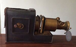 "Antique Walter Tyler 'Magic Lantern' Helioscopic Lens 7"" Spares Repair Or Decor"