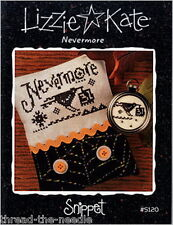 Lizzie Kate Snippet S120 Nevermore Halloween Cross Stitch Chart Pattern