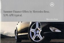 MERCEDES-BENZ Finance include jly-sep 2009 mercato britannico opuscolo A B C CLK SLK CLS