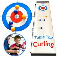 Easy Setup Tabletop Indoor Curling Game Ideal for Teens and Adults - 47 Inch